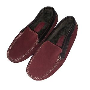 BOYS COLE HAAN BURGUNDY BROWN LEATHER MOCCASIN LOAFERS! 12