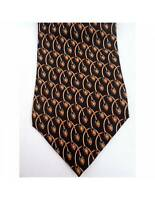 Trussardi Brown Blue Silk Vintage Tie