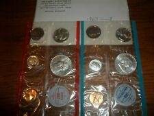 1963 US Mint Uncirculated P and D Silver 10 Coin Mint Set with Franklin 50c K