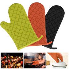 Non-Slip Heat Insulation Mitts Gloves Thick Cotton Baking Kitchen Oven Microwave