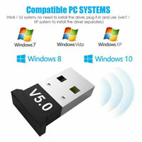 USB Dongle Adapter For Bluetooth V5.0 PC PS3 Xbox One Desktop Computer AU