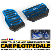 2x Blue Universal Automatic Racing Sports Non-Slip Pedal Brake Gas Pad Car Cover