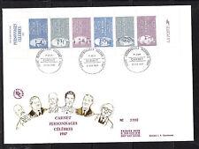 grande enveloppe 1er jour bande carnet personnages    ; 1987