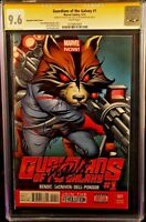 MARVEL Comic GUARDIANS OF THE GALAXY #1 CGC SS 9.6 NM+ X2 Stan Lee 1:100 Variant