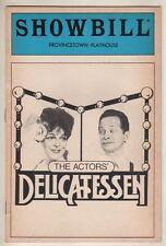 "Marilyn Sokol & David Garfield  ""The Actors' Delicatessen""   Playbill  1984"