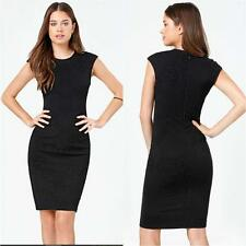 BEBE BLACK CHANTILLY CAP SLEEVE TEXTURE STRETCH DRESS NWT NEW $159 LARGE L