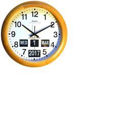 Grayson 45.7cm clair en bois LUNETTE Calendrier Horloge Jour Date Mois - g240l