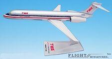 TWA/AA Trans (01-02) 717-200 Airplane Miniature Model Plastic Snap Fit 1:200 Par