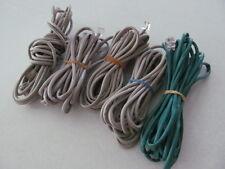 Lot 5/5pc 15ft. RJ11 4 Pin CAT5e Green/White DSL Telephone Data Cables