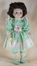 "Dede Seymour Mann Connoisseur Collection 16"" Porcelain Girl Doll Green Eyes"