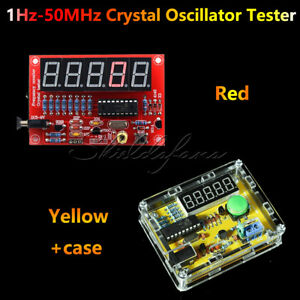 Crystal Oscillator Tester Frequency Counter 1Hz-50MHz DIY Kits Meter w/Case