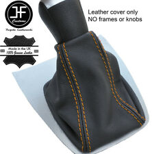 Yellow Stitch Top Grain REAL LEATHER GEAR GAITER FITS FORD FOCUS C MAX 2003-2007