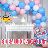 """Pack of 10-100 Pastel Latex Balloons Candy Macaron Many Colour Party 5-10"""" Balon"""