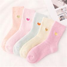 5 Pairs/pack Women Comfortable Soft Cotton Socks Heart Pattern Winter Warm Socks