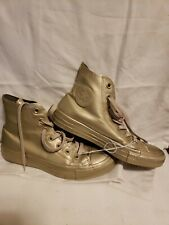 CONVERSE ALL STARS  CHUCK TAYLOR Size 8 Woman Gold Water Repellent High Tops