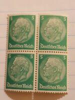 Germany Third Reich 1934 Hindenburg 5 Stamp MNH WW2 Era (G-3102) Interwar period