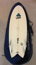 5'6� Shapes Design Channel Islands Ultra Light Surfboard Al Merrick, Travel Bag