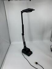 Mid Century Adjustable Arm Desk Lamp w Heavy Base Electrix Model 7500X Black