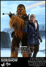 STAR WARS VII The Force Awakens Han Solo & Chewbacca Hot Toys MISB US Seller NEW
