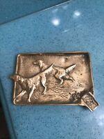 Vintage Va Metalcrafters Brass Setter Dog Ashtray. Free Shipping