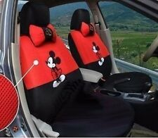 New Mickey Mouse Car Seat Covers Accessories Set 12PCS Red+Black