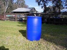 DRUM PLASTIC 200L WATER FISH TANK HYDROPONIC BARREL GARDEN HORSE FEEDER nwSydney