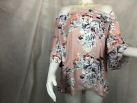 City Chic Off Shoulder Pretty Floral Top Women's Plus Size 16 New with Tags ]