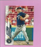 2020 Topps 582 Montgomery Club Foil Stamp #62 Chase Anderson Milwaukee Brewers