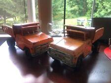 New ListingTwo Vintage 60's Tonka Orange Dump Trucks Dumptruck Truck Pickup