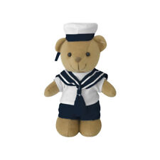 More details for teddy bear navy sailor suit seaman combat army officer military style toy 20cm