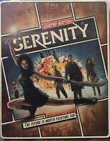 Serenity STEELBOOK (Blu-ray/DVD, 2013, 2-Disc, Digital UltraViolet) NEW SEALED