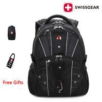 "Original SwissGear multifunctional laptop backpack 17"" Macbook Travel School bag"