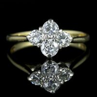 VINTAGE DIAMOND CLUSTER RING 18CT GOLD ENGAGEMENT RING