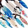 Seestern Halskette Modeschmuck mit Surfboard Holz Anhänger variables Halsband