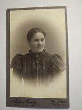 Traunstein - 1900 - Frau im Kleid - Portrait / CDV