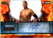 TNA Kazarian 2013 Impact Wrestling LIVE GOLD Autograph Card SN 87 of 99