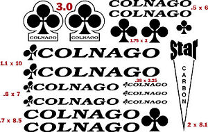 COLNAGO   BIKES   VINYL CUT DECALS (17)  $13.49  FREE SHIPPING   CHOOSE COLOR