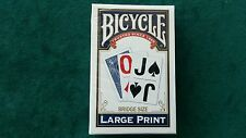 Bicycle Blue Large Print Bridge Size Playing Cards Deck Brand New