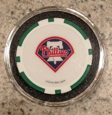 Philadelphia Phillies Texas Holdem Poker Chip Card Guard Protector NEW GREEN