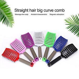 Detangling Hairbrush Nylon & Bristle Hair Women Scalp Massage Comb Brush Tool