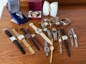Job Lot Mens Ladies Wristwatches - Some Vintage, Seiko Rotary Sekonda Ruhla Etc