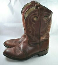 BOULET CANADA MENS COWBOY WESTERN BOOTS SIZE 10.5D USA 43EURO 10UK BROWN COLOR