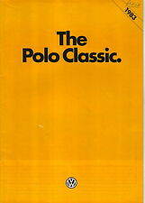 VW VOLKSWAGEN POLO CLASSIC C Formel E CL GL 1982-83 ORIGINALE UK SALES BROCHURE
