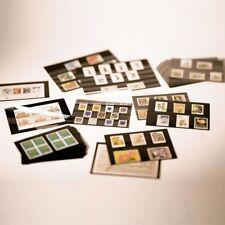 100 Leuchtturm A5-Einsteckkarten Steckkarten mit Schutzfolie NEU schwarz