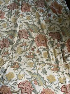 POTTERY BARN CYNTHIA Palampore Floral DUVET, Full Queen, FALL Teal Red Green EUC