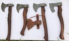 MDM NEW DAMASCUS HAND FORGED LOT OF 4 X TOMAHAWK VIKING HATCHET AXE BEARDED AXE
