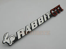 VW CHROME 3D RABBIT GTI BADGE GOLF Retrò Mk1 Mk2 Polo Classica FOX Retrò AUTO PORTA