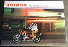 1981 HONDA CX500 CUSTOM MOTORCYCLE SALES BROCHURE 4 PAGES REALLY NICE  (515)