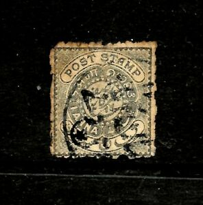 1871 Hyderabad, Indian States, 1a Black, SG #19b, FU