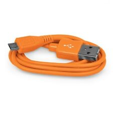 1 Metre Long Orange Coloured Fast Charging Micro USB Cable For Various Phones